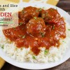 Meatballs and Rice with Hidden Vegetables