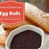 Banana Cheesecake Egg Rolls With Nutella Dipping Sauce