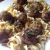 Salisbury Steak Meatballs with Egg Noodles