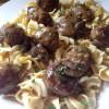Salisbury Steak Meatballs with Egg Noodles