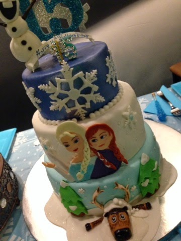 A Frozen Themed Birthday Cake Savvy In The Kitchen