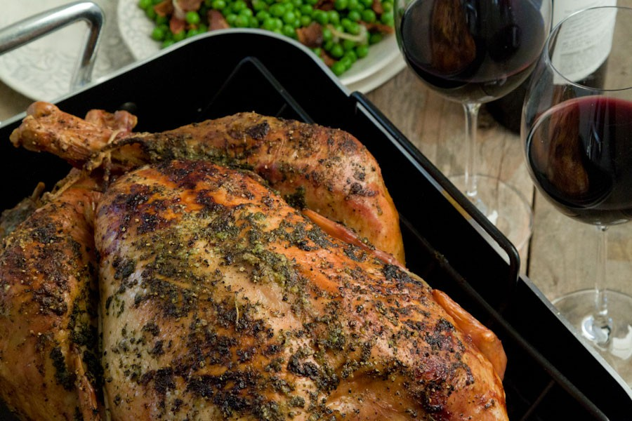 Roasted Turkey With Herb Butter & Roasted Shallots Recipes ...