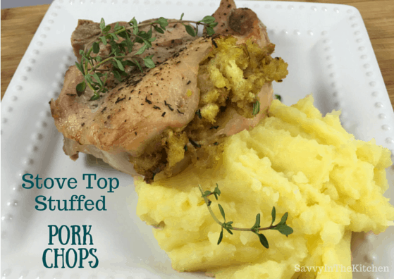 Easy pork chops with stove top stuffing