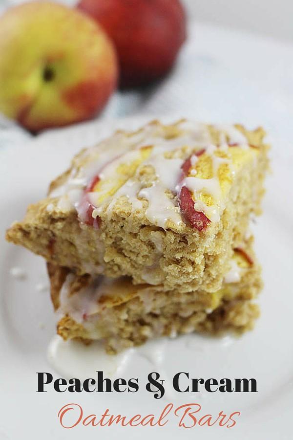 Peaches & Cream Oatmeal Bars - A Summer Treat!