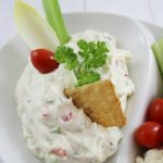 Cream Cheese Vegetable Dip - Using Weight Watchers Reduced Fat Cream Cheese! Skinny and Yum!