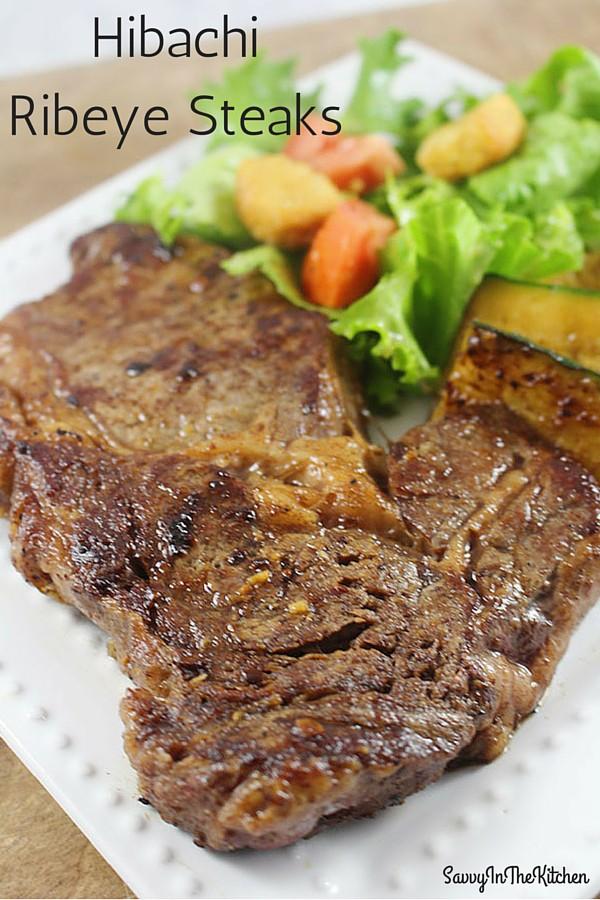 Hibachi Ribeye Steaks - So Delicious!