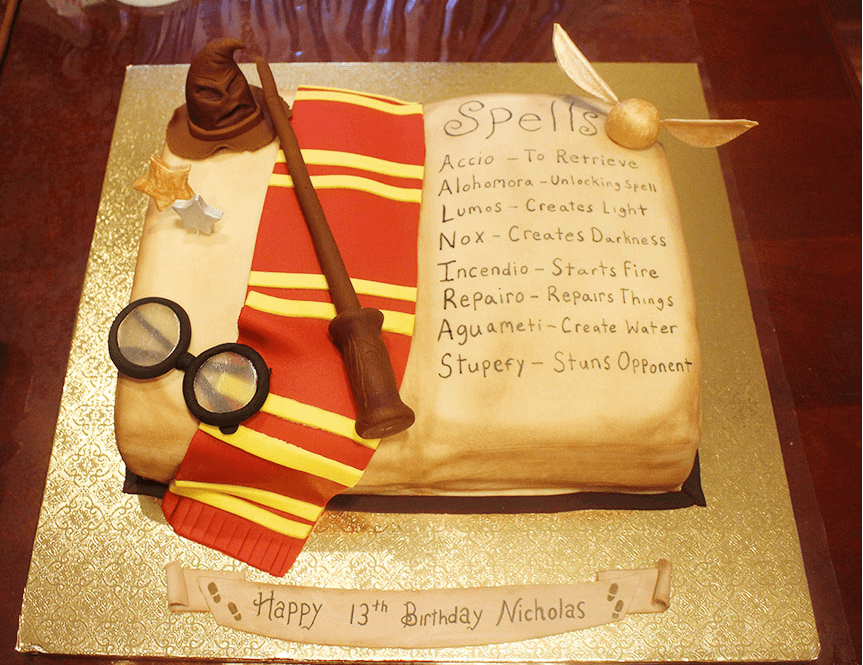 Cake Harry Potter Book : Harry Potter Inspired Book Cake Tutorial - Savvy In The ...