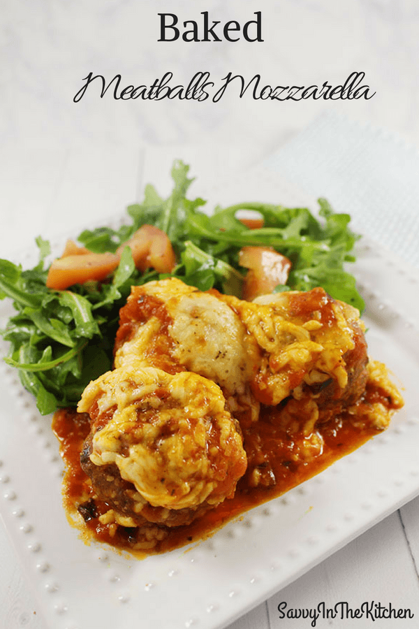 Baked Meatballs mozzarella