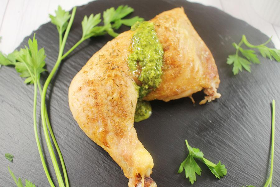 fajita-seasoned-baked-chicken-with-chimichurri-sauce
