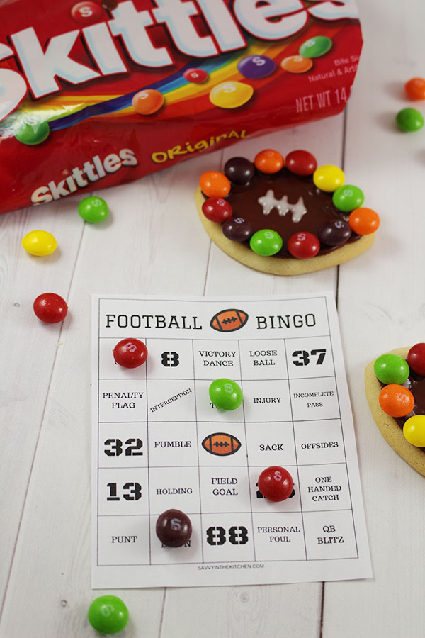 FOOTBALL sugar cookies with Bingo Printable