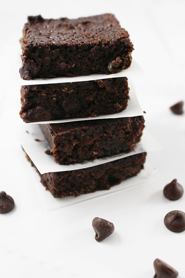 Chocolate Chip Zucchini Brownies! - Savvy In The Kitchen