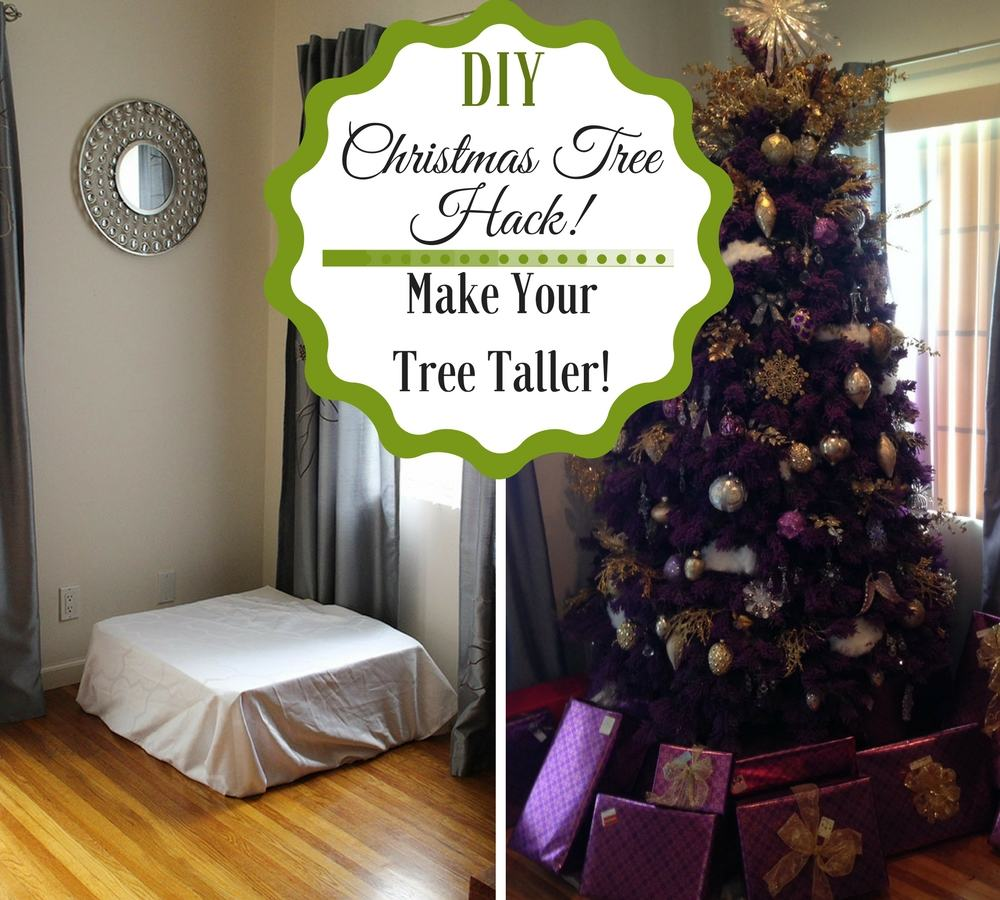 i love tall christmas trees and i love to decorate them in different ways and easy hacks for decorating them like when i showed you how to string on