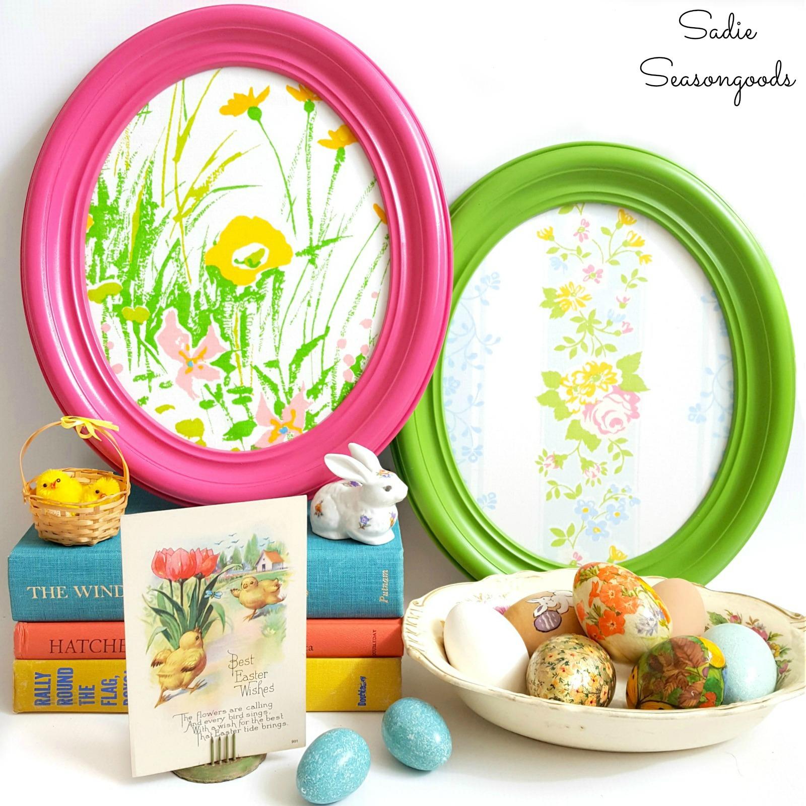 """Oval Frame """"Easter Eggs"""""""