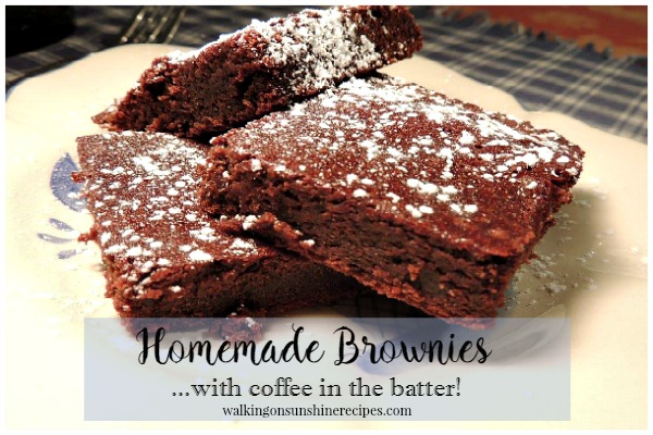 HOMEMADE BROWNIES WITH COFFEE IN THE BATTER