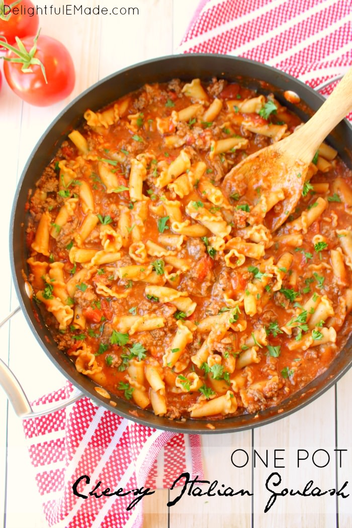 One Pot Cheesy Italian Goulash