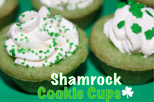 SHAMROCK COOKIE CUPS