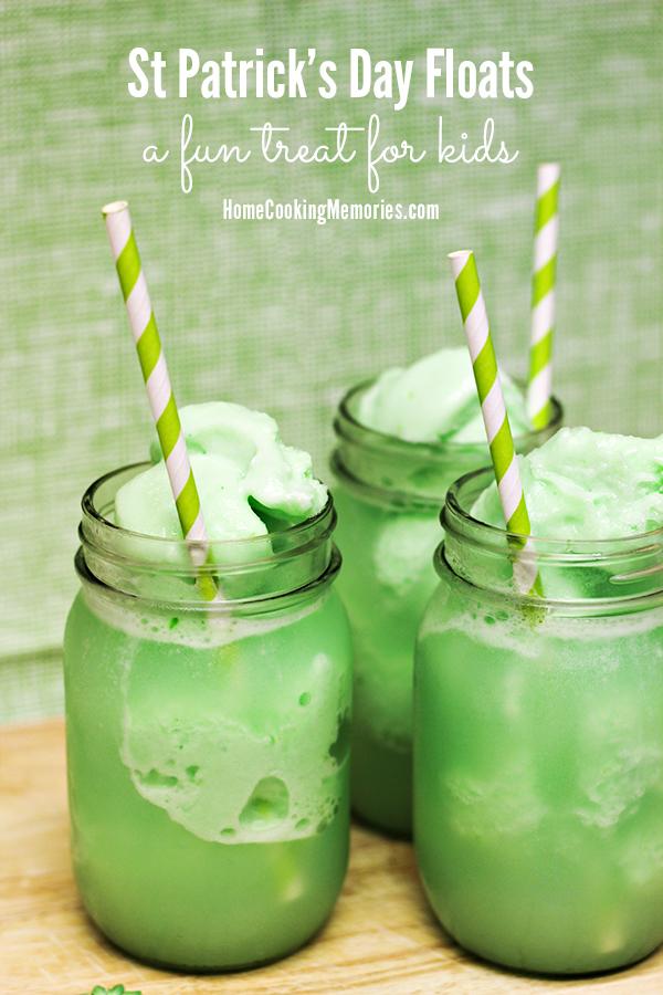 Lime Sherbet Floats (St Patrick's Day Floats)