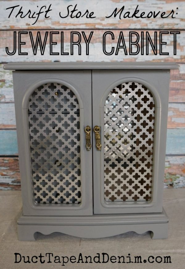 THRIFT STORE JEWELRY CABINET RESCUE!