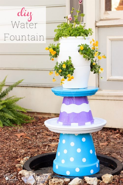Colorful and Whimsical DIY Water Fountain
