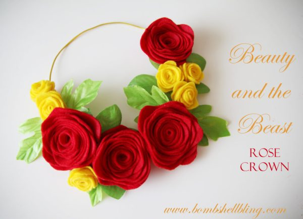 Beauty and the Beast Rose Crown