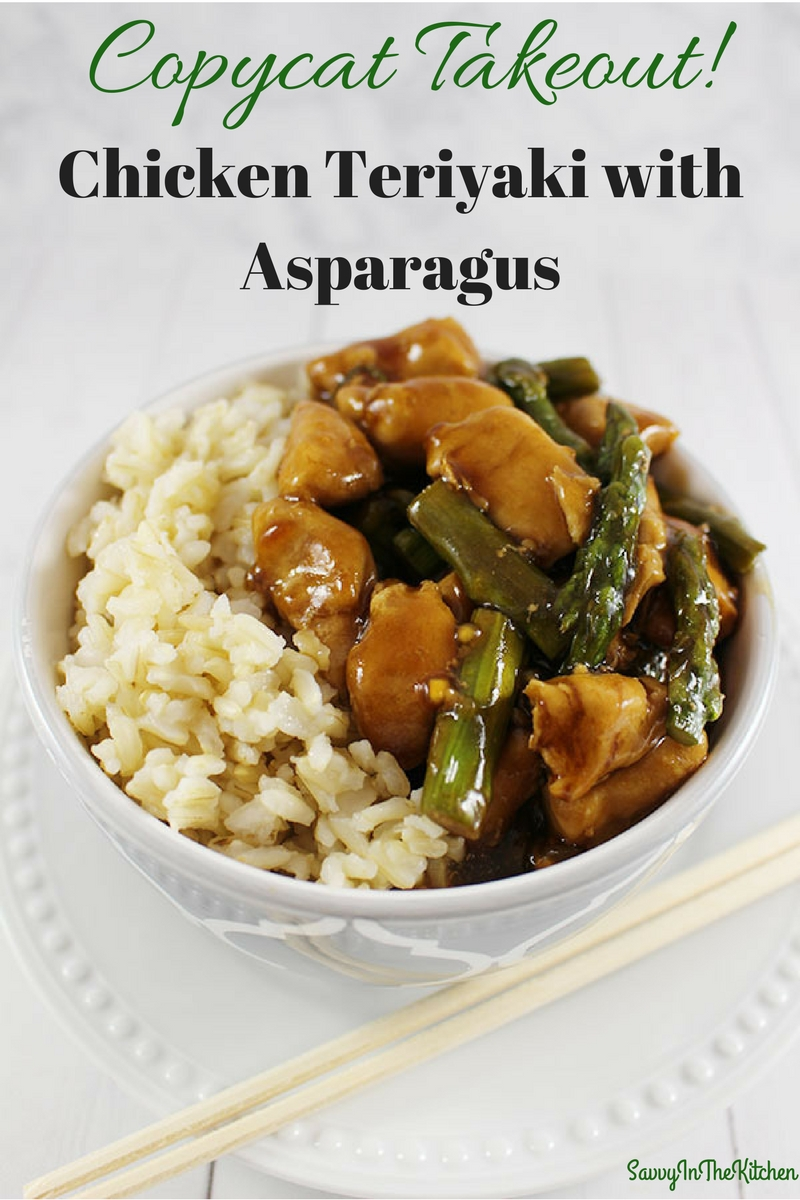 Copycat Takeout Chicken Teriyaki with Asparagus - Savvy In ...