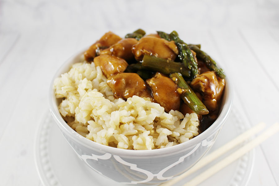 Copycat Takeout Chicken Teriyaki with Asparagus