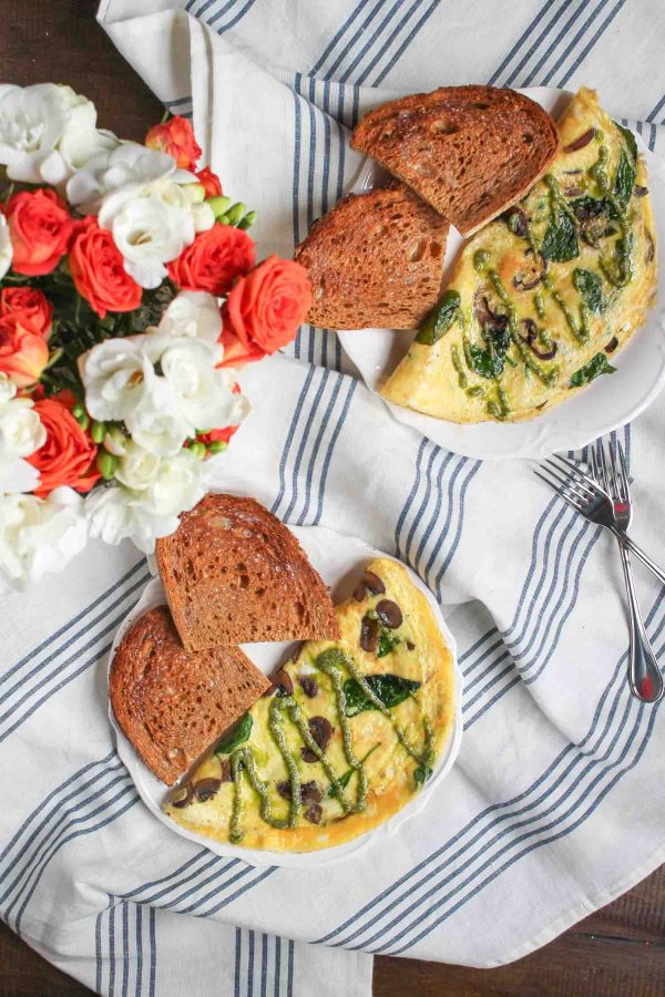 Mushroom and Goat Cheese Omelet