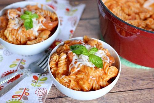 Italian Cheesy Chicken Pasta One Pot Meal