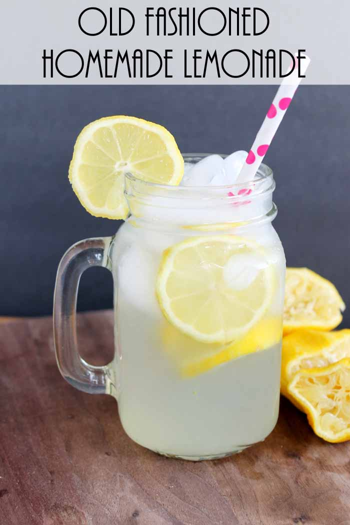 Old Fashioned Homemade Lemonade for One!