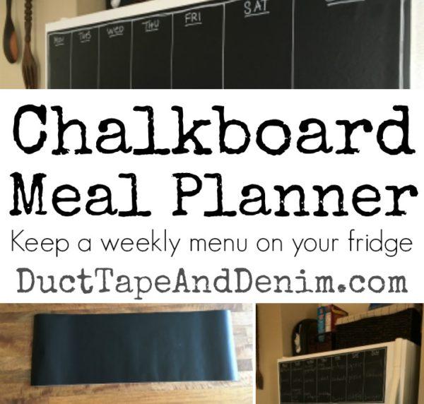 DIY CHALKBOARD MEAL PLANNER FOR THE FRIDGE