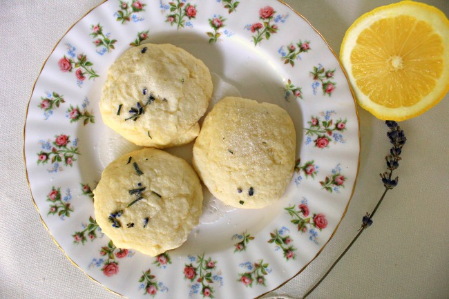 Fresh Lavender and Lemon Cookies