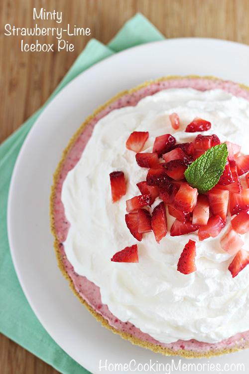 Minty Strawberry-Lime Icebox Pie Recipe