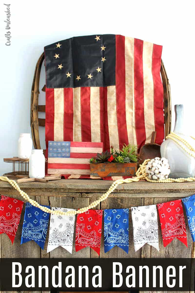 Patriotic Bandana Banner: No Sewing Required!