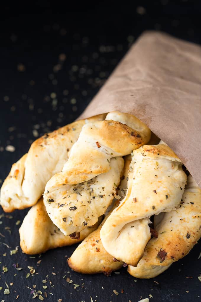 Easy Garlic Twists